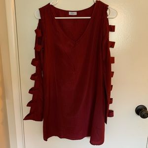 Maroon Tobi Dress